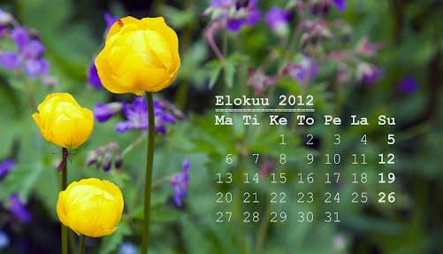 Elokuun 2012 kalenteri, Kullero
